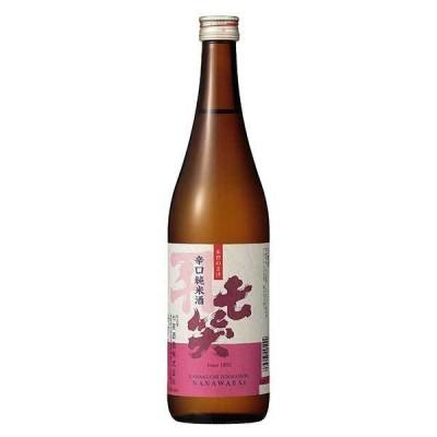 七笑 辛口純米酒 720ml x 12本 ケース販売 送料無料 本州のみ OKN 七笑酒造 長野県酒