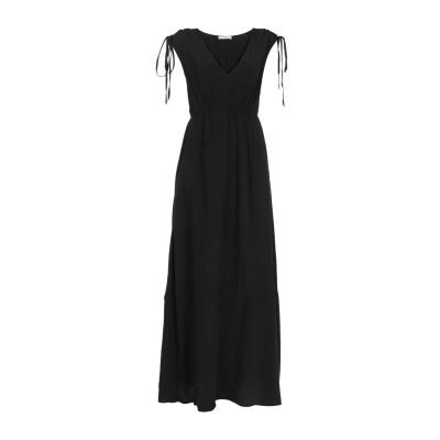 カフェノワール CAFèNOIR ロングワンピース&ドレス ブラック S 100% レーヨン ロングワンピース&ドレス