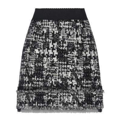 ドルチェ & ガッバーナ DOLCE & GABBANA ひざ丈スカート ブラック 36 アクリル 50% / ウール 38% / ポリエステル 1