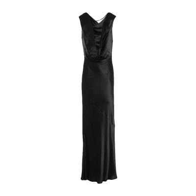 エリカ カヴァリーニ ERIKA CAVALLINI ロングワンピース&ドレス ブラック 38 レーヨン 100% ロングワンピース&ドレス