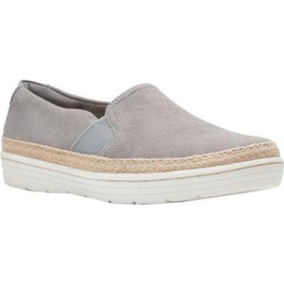 クラークス Clarks レディース スリッポン・フラット スニーカー シューズ・靴 Marie Sail Slip On Sneaker Grey Suede