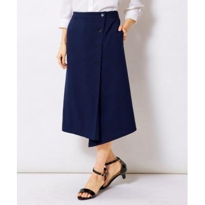 【大きいサイズ】 ラップ風Aラインスカート スカート, plus size skirts