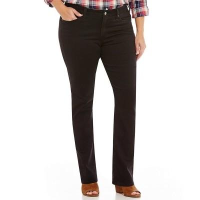 リーバイス レディース デニムパンツ ボトムス Levi's Plus Size 414 Classic Straight Soft Black