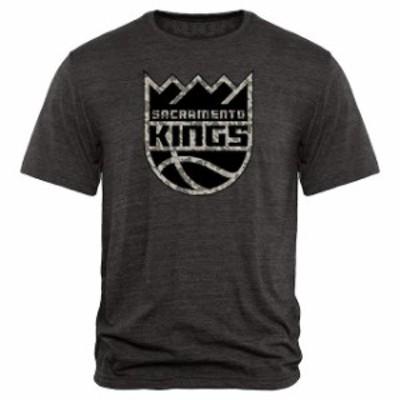 Fanatics Branded ファナティクス ブランド スポーツ用品  Sacramento Kings Black Court Warrior Tri-Blend T-Shirt -