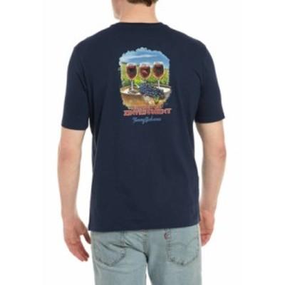 トッミーバハマ メンズ シャツ トップス Men's Short Sleeve Return On Zinvestment Graphic T-Shirt NAVY