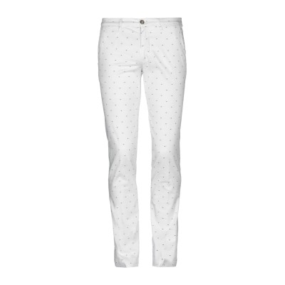 マニュエル リッツ MANUEL RITZ パンツ ホワイト 44 コットン 98% / ポリウレタン 2% パンツ