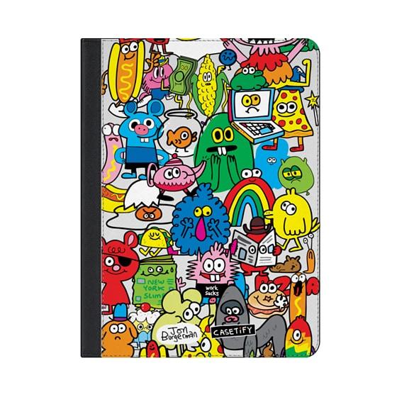 "CASETiFY iPad 9.7"" Ipad Folio Case - Fun Friends by Jon Burgerman"