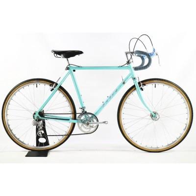 ◆◆フカヤ 深谷 FUKAYA ダボス DAVOS ランドナー クロモリ SHIMANO SUNTOUR シート 530mm 5速 650A ブルー ロードバイク