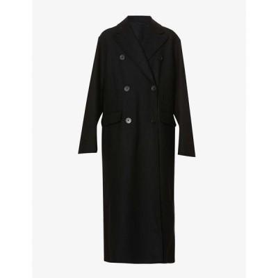 アンドゥムルメステール ANN DEMEULEMEESTER レディース コート ダブルブレストコート アウター Double-breasted wool and cashmere-blend coat Cappotto Black