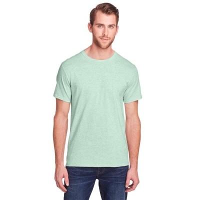 ユニセックス 衣類 トップス Fruit of the Loom The Adult ICONICTM T-Shirt - MINT TO BE HTHR - XS Tシャツ
