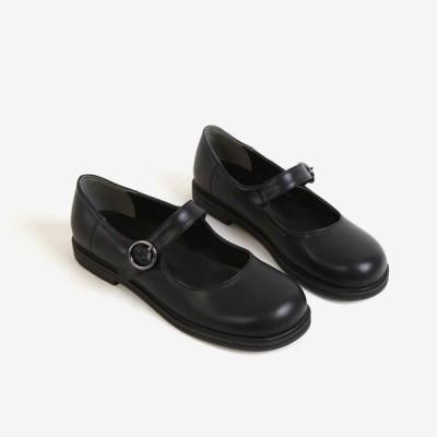 ローファー フロントストラップ フラットシューズ レディース おじ靴 フラット ペタンコ ぺたんこ パンプス 革靴 婦人靴 歩きやすい カンフーシューズ