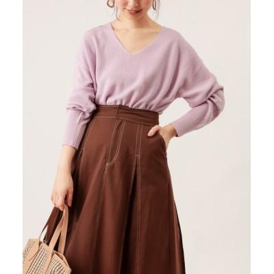natural couture / ゆるっと片畦Vネックニット WOMEN トップス > ニット/セーター