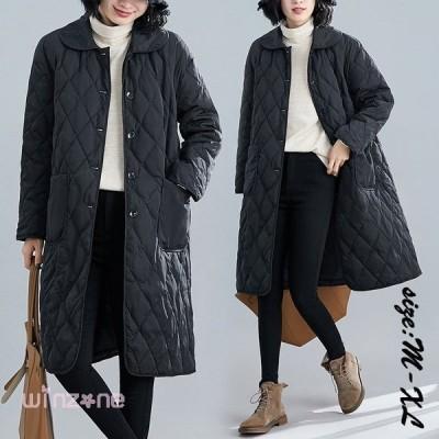 中綿コートレディースロングコート冬服綿入れ防寒着暖かい薄手軽量カジュアルオシャレアウターゆったりきれいめ大きいサイズファー長袖通勤