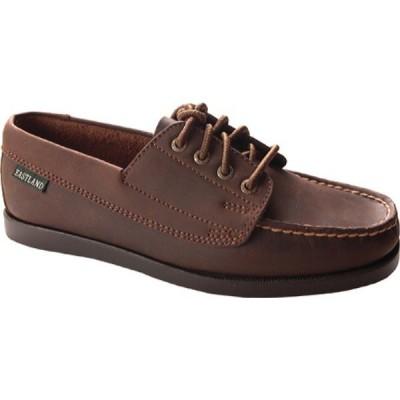 イーストランド Eastland レディース ローファー・オックスフォード モックトゥ シューズ・靴 Falmouth Moc Toe Oxford Bomber Brown Leather