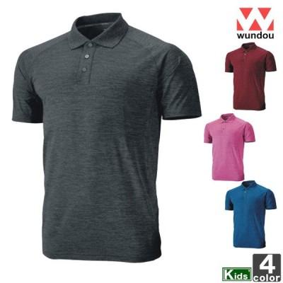 トップス ウンドウ wundou ジュニア キッズ P-715J フィットネス ポロシャツ 2004 半袖シャツ ネコポス対応
