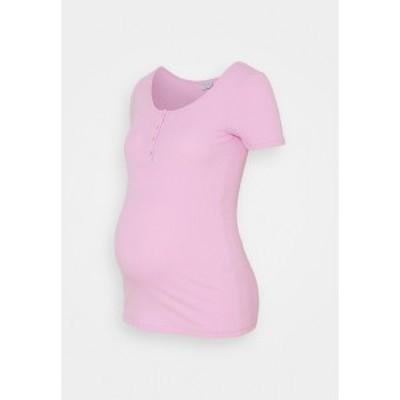 ピーシーズ マタニティ レディース Tシャツ トップス PCMKITTE  - Basic T-shirt - purple purple