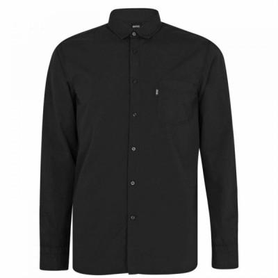 ヒューゴ ボス Boss メンズ シャツ トップス Magneton 1 Long Sleeve Shirt Black