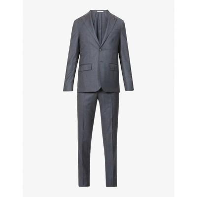 パルジレリ PAL ZILERI メンズ スーツ・ジャケット アウター Brera mini houndstooth wool suit Grey