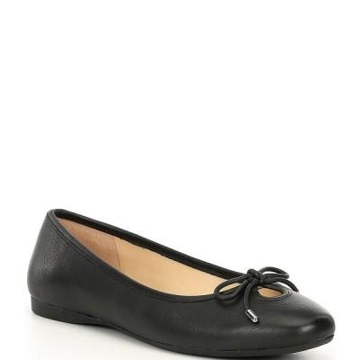 アレックスマリー レディース サンダル シューズ Ashema Leather Bow Detail Ballet Flats Black