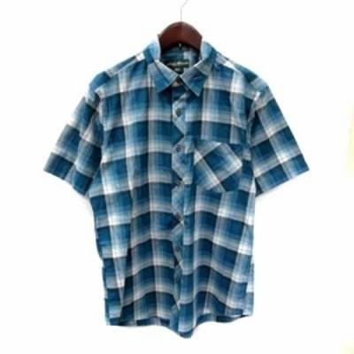 【中古】エディーバウアー EDDIE BAUER シャツ 半袖 チェック S マルチカラー /YI メンズ