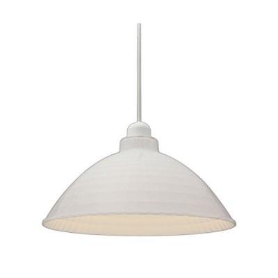 アイリスオーヤマ LEDペンダントライト LED電球セット Lapin ガラス調 Mサイズ オフホワイト PL8L-E26CG1-W