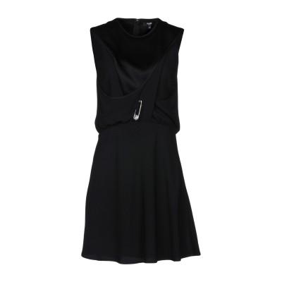 VERSUS VERSACE ミニワンピース&ドレス ブラック 42 アセテート 70% / レーヨン 30% ミニワンピース&ドレス
