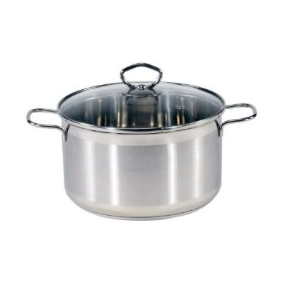 Karl Kruger Manhattan Stainless Steel Series Vegetable Pot, 7.5 l, 7.5 Litre, Silver, 6 Pack
