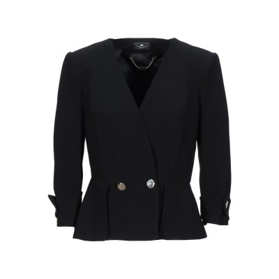 ELISABETTA FRANCHI テーラードジャケット ブラック 46 ポリエステル 100% テーラードジャケット