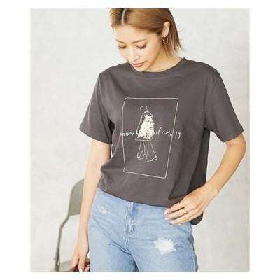 Tシャツ カットソー レディース グラフィック プリント ニッセン nissen