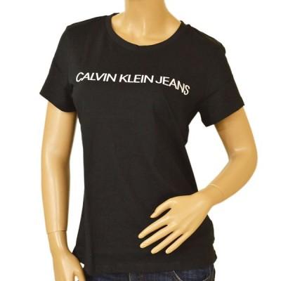 Tシャツ カルバンクラインジーンズ レディース Calvin Klein Jeans 2021年SS春夏新作 ロゴ 半袖 eck21s504 J20J207879 099 CK BLACK ブラック
