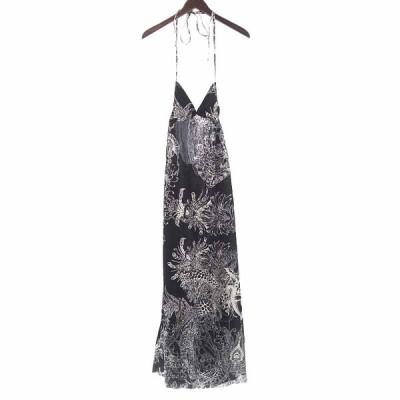 ルグランブルー/LGB 総柄 カットオフ ドレス ワンピース 30I20 サイズ レディース0 ブラック ランクB 106  (中古)