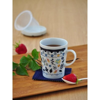 セレック (CELEC) 「 ティーメイト 」 STM-15 マグカップ(茶こし付) フィーカ柄 3800029