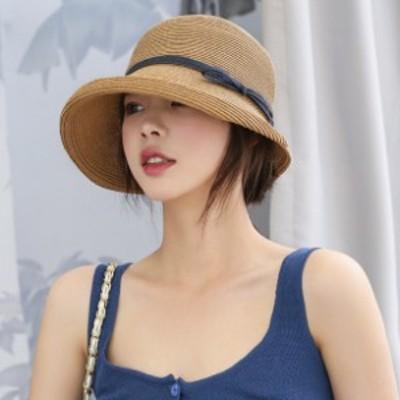 帽子 レディース 帽子 レディース 春夏 帽子 レディースuv 帽子 麦わら レディース 帽子 uvカット 帽子 リボン 帯 帽子 リボン ハットバ