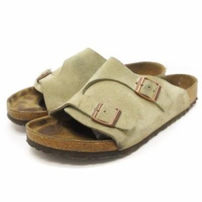 【中古】ビルケンシュトック BIRKENSTOCK チューリッヒ ZURICH サンダル トープ ベージュ系 42 27cm 靴 メンズ