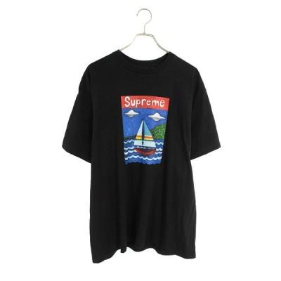 シュプリーム SUPREME 20SS Sailboat Tee セルボートプリントTシャツ OM10 中古