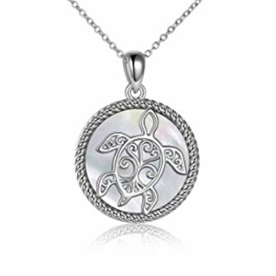 ONEFINITY Sterling Silver Sea Turtle Necklace Abalone Shell Tree of Life Tortoise Pendant Jewelry Gift for Women Mom