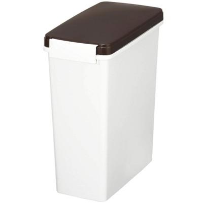 新輝合成 トンボ 防臭 スリムペール パッキン付 14L 臭いを閉じ込める パッキン付フタ&ロック式 BR 14型 ゴミ箱