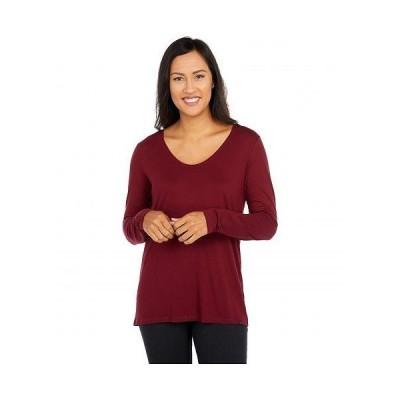 Pendleton ペンドルトン レディース 女性用 ファッション Tシャツ Long Sleeve Scoop Tee - Cabernet
