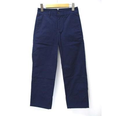 【中古】ユニクロ UNIQLO コットン ノータック チノ パンツ W58 ブルー レディース 【ベクトル 古着】
