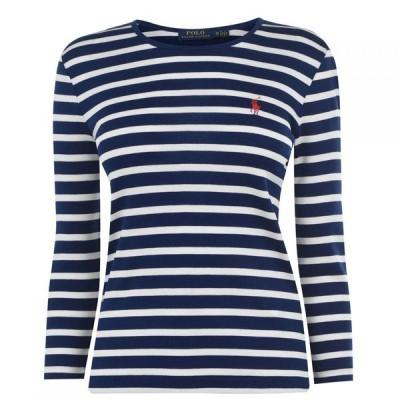 ラルフ ローレン Polo Ralph Lauren レディース ニット・セーター トップス Stripe Knit Jumper Navy/White