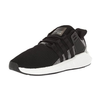 adidas Originals Men's EQT Support 93/17 Running Shoe, Black/Black/White, 10 M US