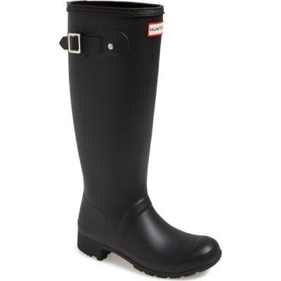 ハンター HUNTER レディース レインシューズ・長靴 シューズ・靴 Tour Packable Waterproof Rain Boot Black/Black