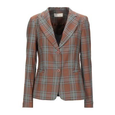 BSB テーラードジャケット ブラウン XS ポリエステル 50% / レーヨン 49% / ポリウレタン 1% テーラードジャケット