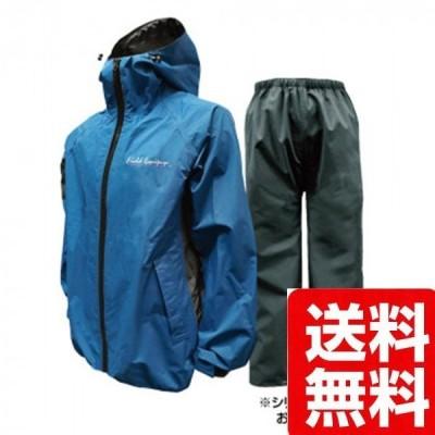 トオケミ レインウェア  7909 カイロスストレッチレインスーツ ブルー LL