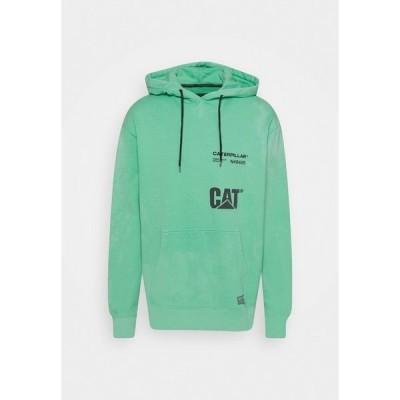 キャタピラー パーカー・スウェットシャツ メンズ アウター HOODIE - Sweatshirt - mint