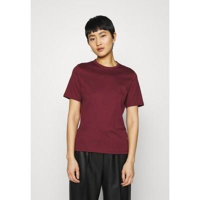 アイビー アンド オーク Tシャツ レディース トップス OLEA - Basic T-shirt - bordeaux