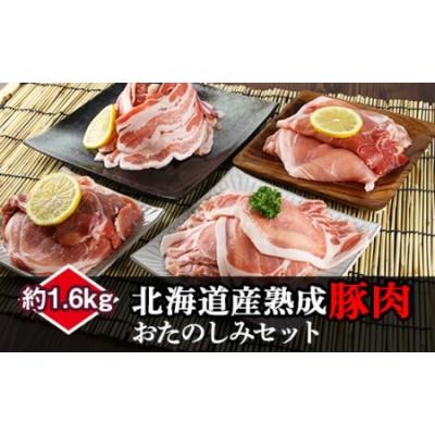 北海道産熟成豚肉モリモリセット約1.6kg<(株)ヤマイチ佐々木精肉畜産>
