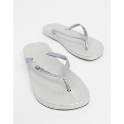 イパネマ Ipanema レディース ビーチサンダル シューズ・靴 anatomic fip flops in silver シルバー