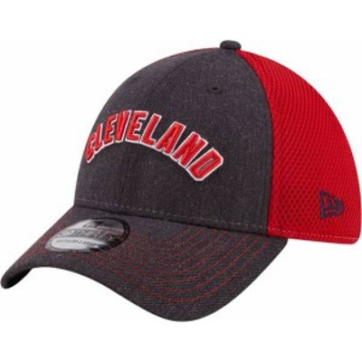 ニューエラ メンズ 帽子 アクセサリー New Era Men's Cleveland Indians 39Thirty Navy Heathered Stretch Fit Hat
