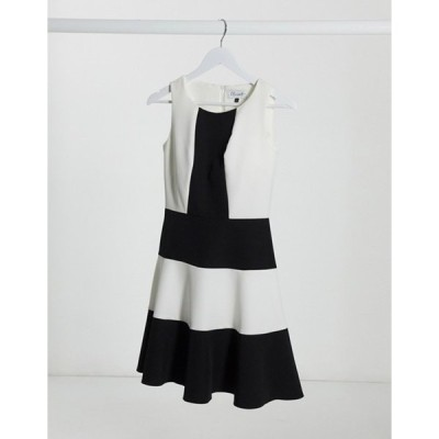 クローゼットロンドン レディース ワンピース トップス Closet paneled skater dress in color block